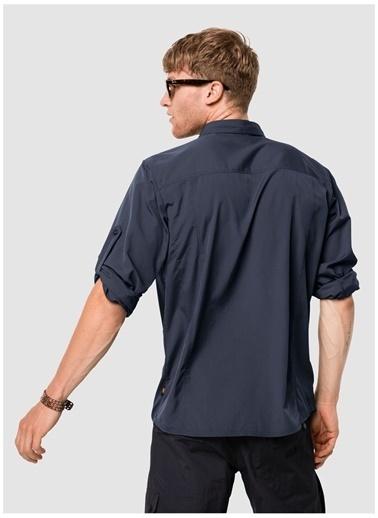 Jack Wolfskin Jack Wolfskin 1402431 Atacama Roll-Up Shirt Gömlek Lacivert